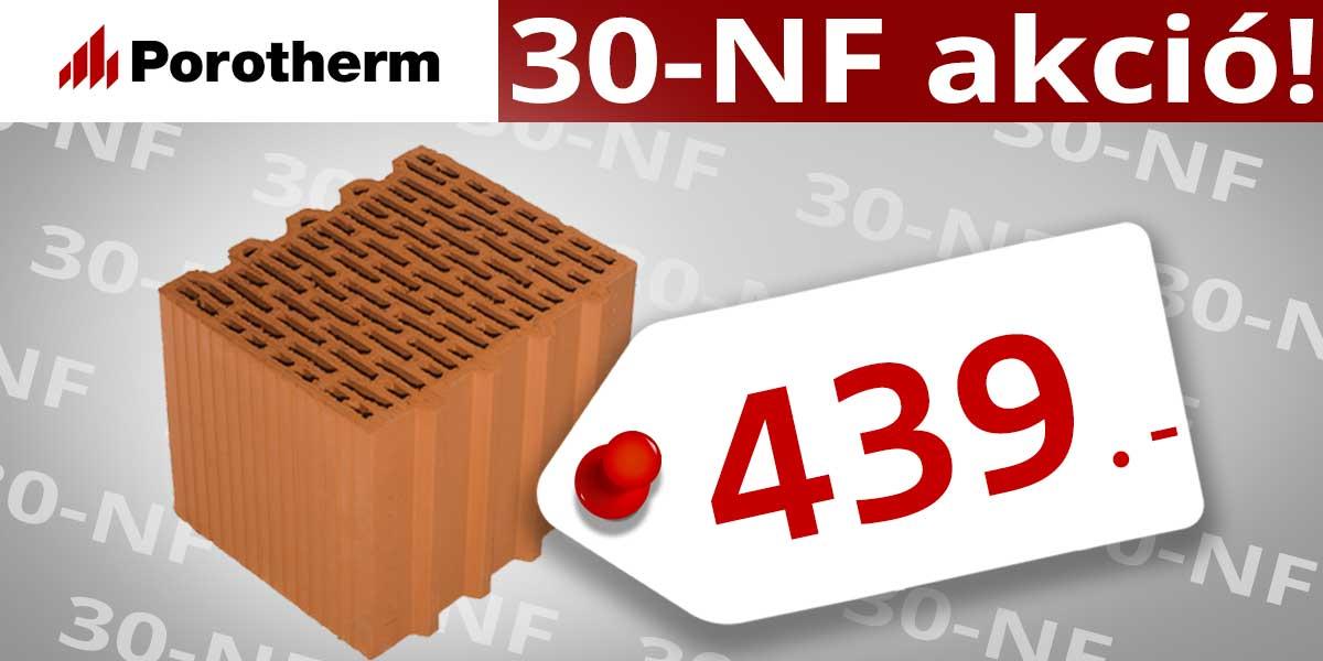 Porotherm 30 N+F tégla ár