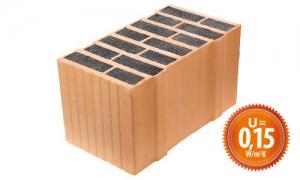 LeierPlan 44 ISO+ tégla, vékony falazóhabarccsal - 44 x 25 x 24,9 cm