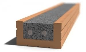 Leier MDA 100 előfeszített nyílásáthidaló kerámia köpennyel - 100 x 12 x 6,5 cm