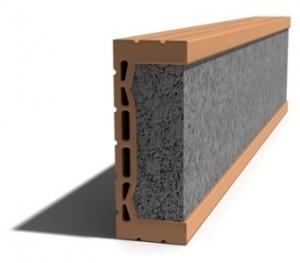 Leier MDE 250 előfeszített nyílásáthidaló kerámia köpennyel - 250 x 8 x 23,8 cm