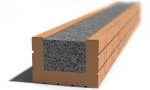Leier MDVA 125 előfeszített nyílásáthidaló kerámia köpennyel válaszfalhoz - 125 x 9 x 6,5 cm