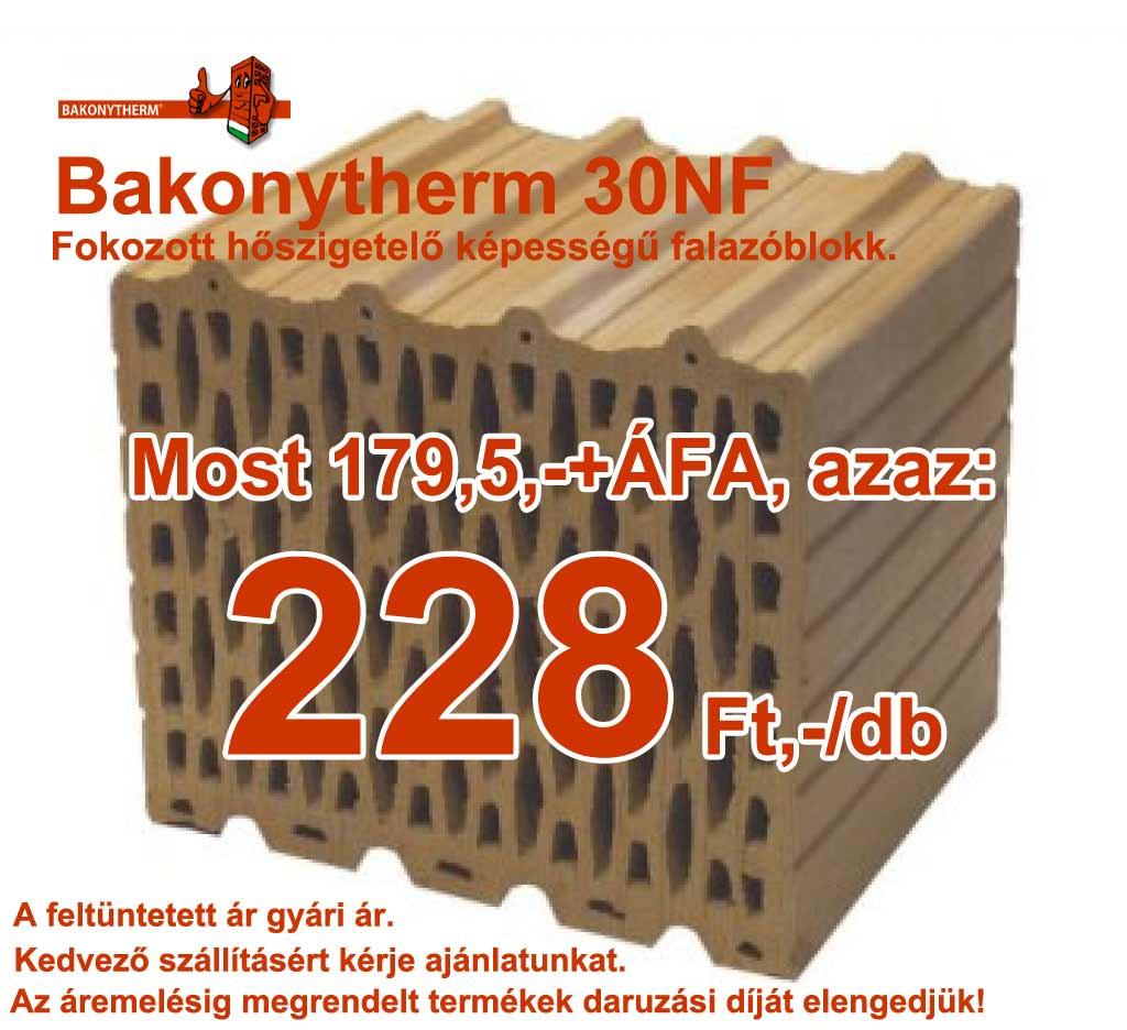 Bakonytherm 30 NF falazótégla