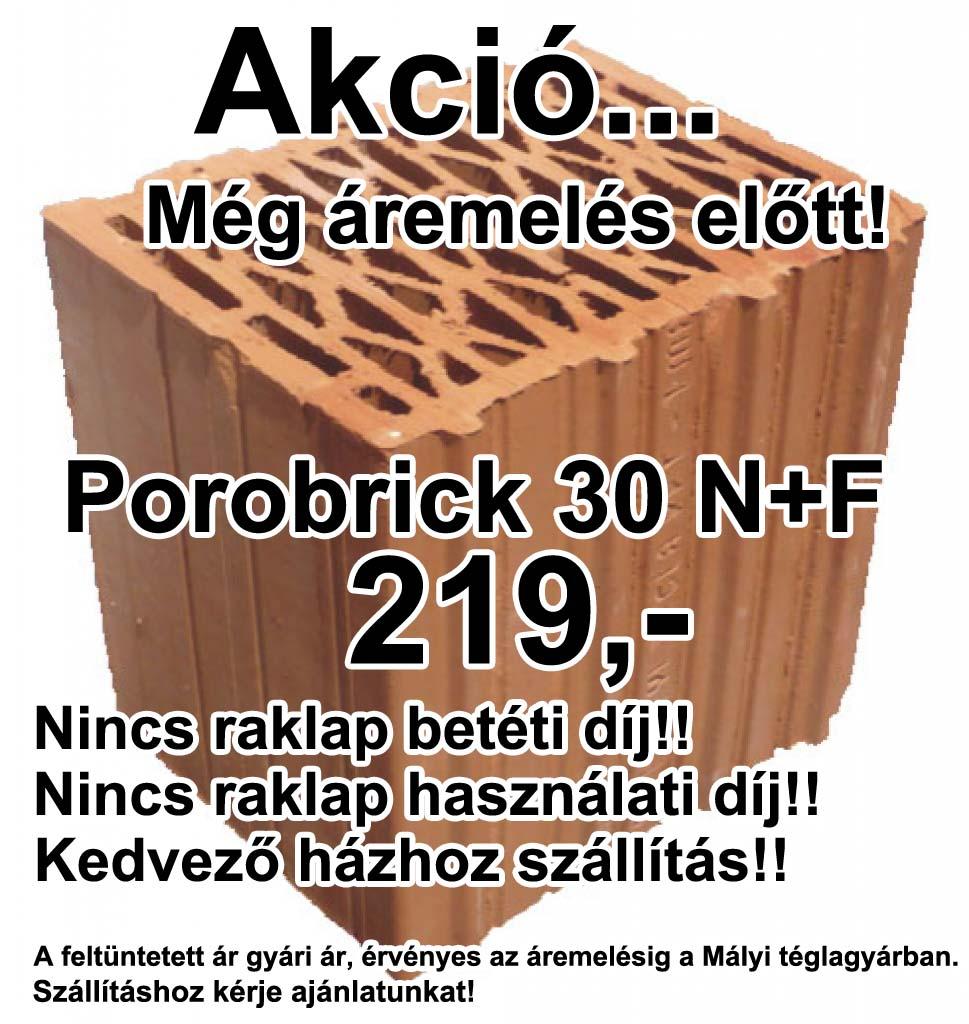 Porobrick 30 NF tégla